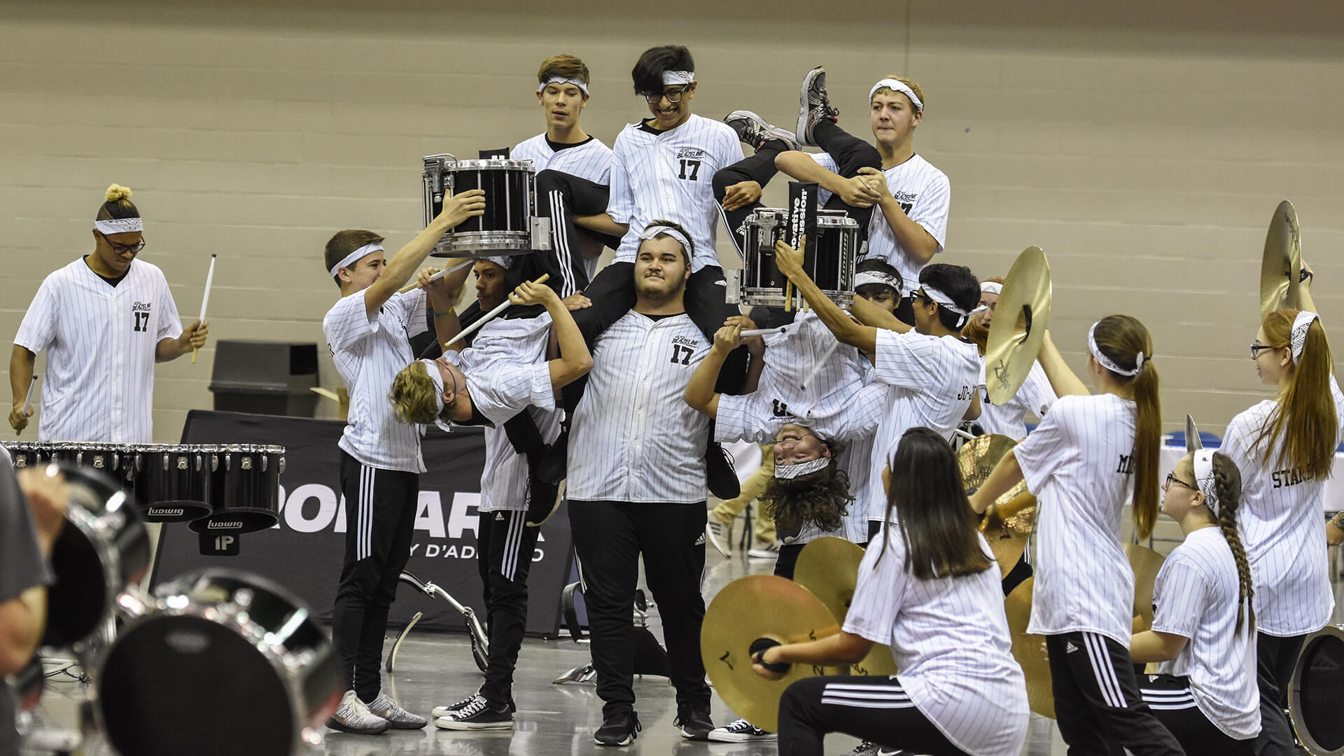 Acrobatics, zombies highlight PASIC DrumLine Battle