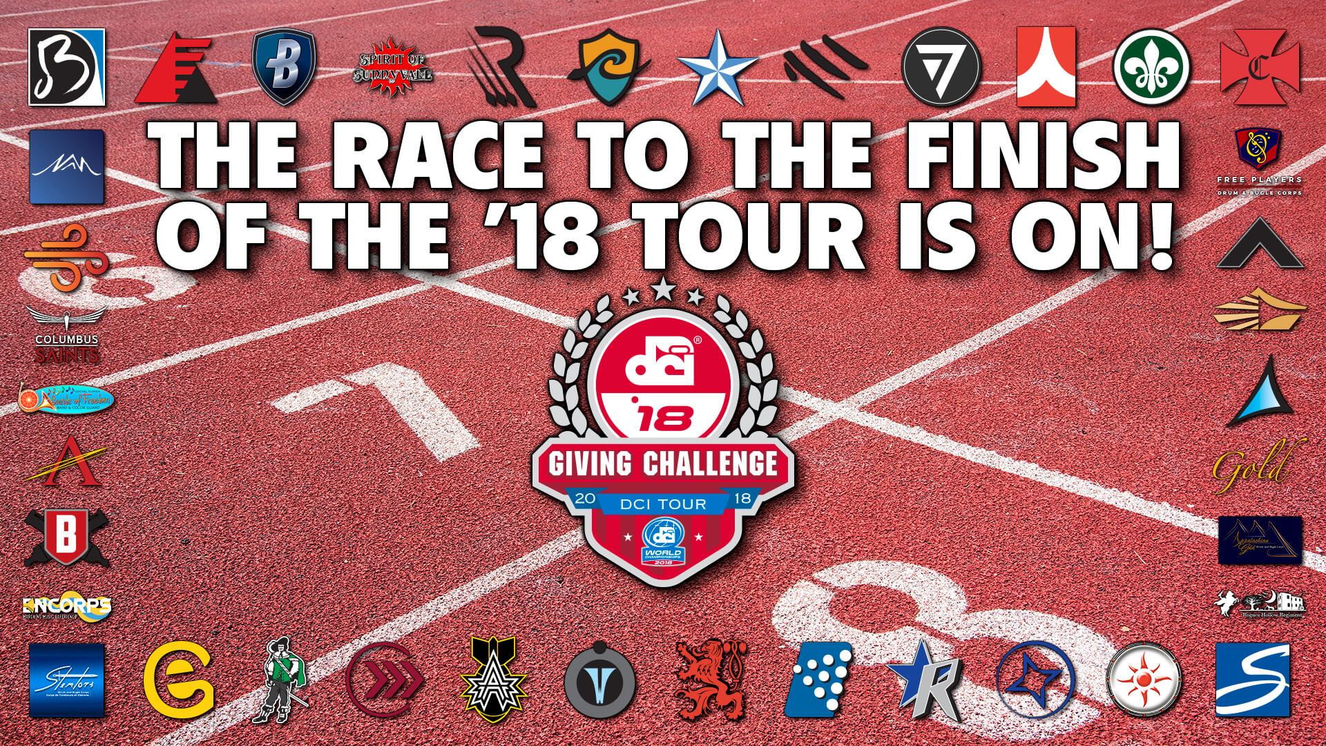 Corps will race to the end of 2018 with the fourth-annual DCI Giving Challenge