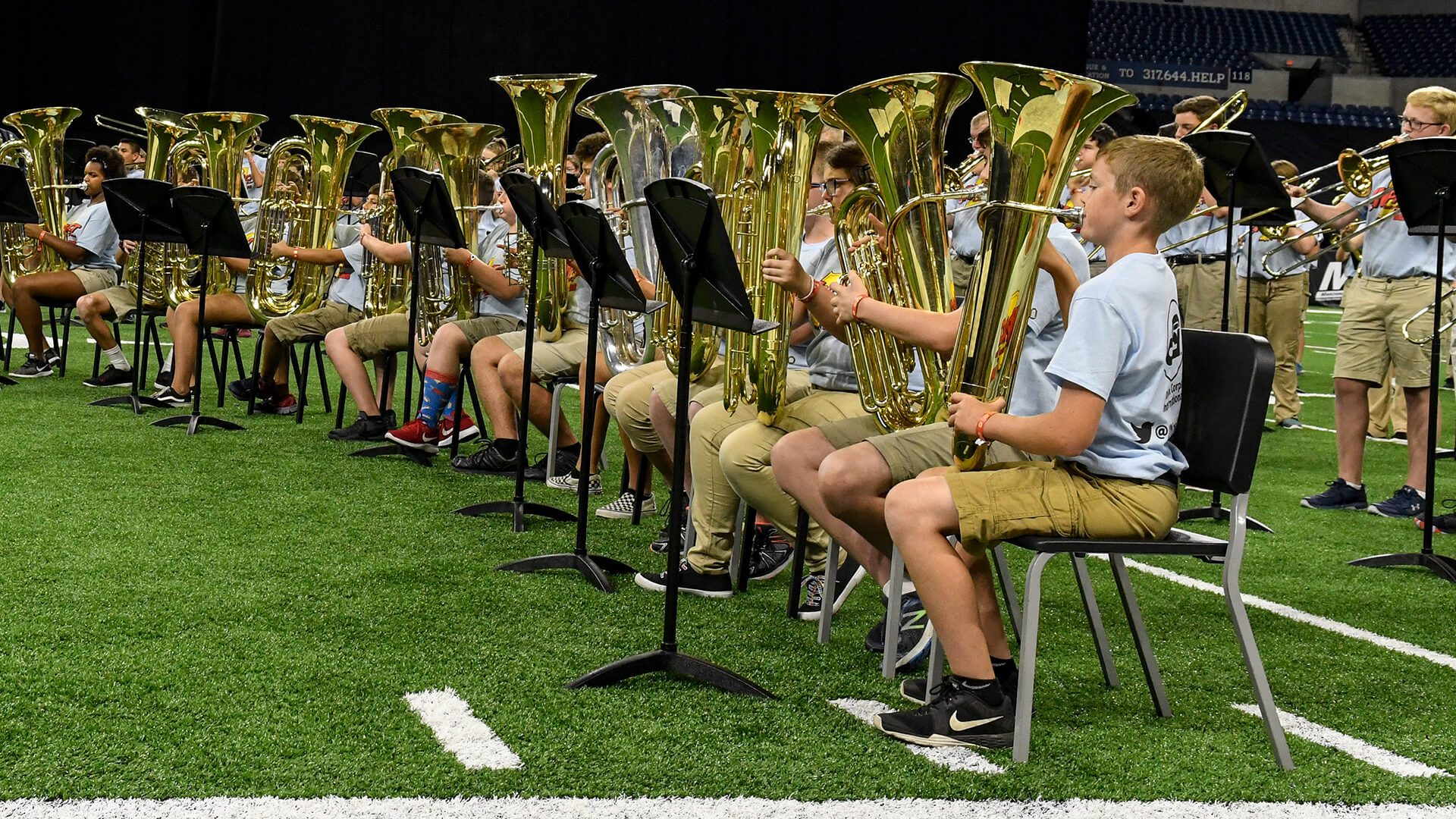 Middle schoolers take the stage at 2018 DCI Finals