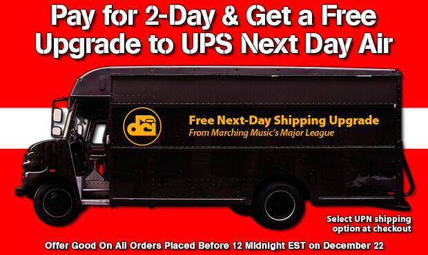 Free next-day shipping upgrade