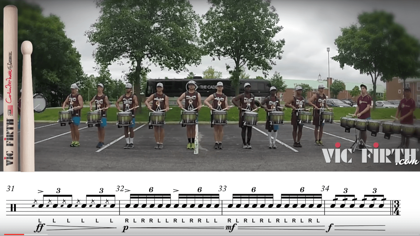 Play along with the Cadets drum line