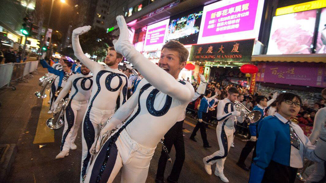 6 videos of the Bluecoats in Hong Kong