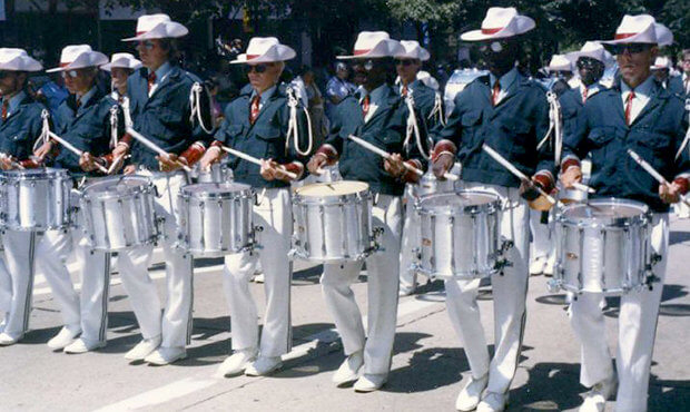 Banks was a percussion section leader with the Madison Scouts from 1984 to 1986.