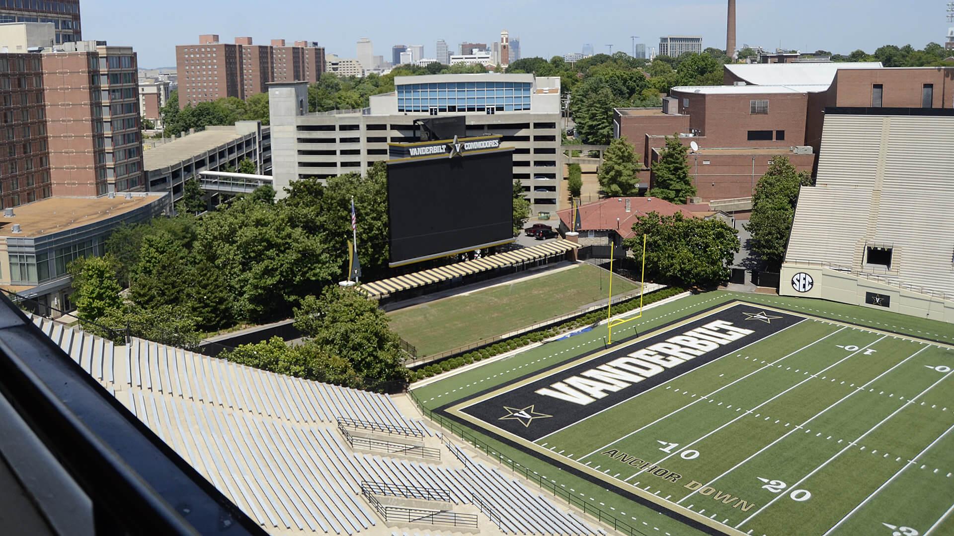 Flashback: High above Vanderbilt University Stadium
