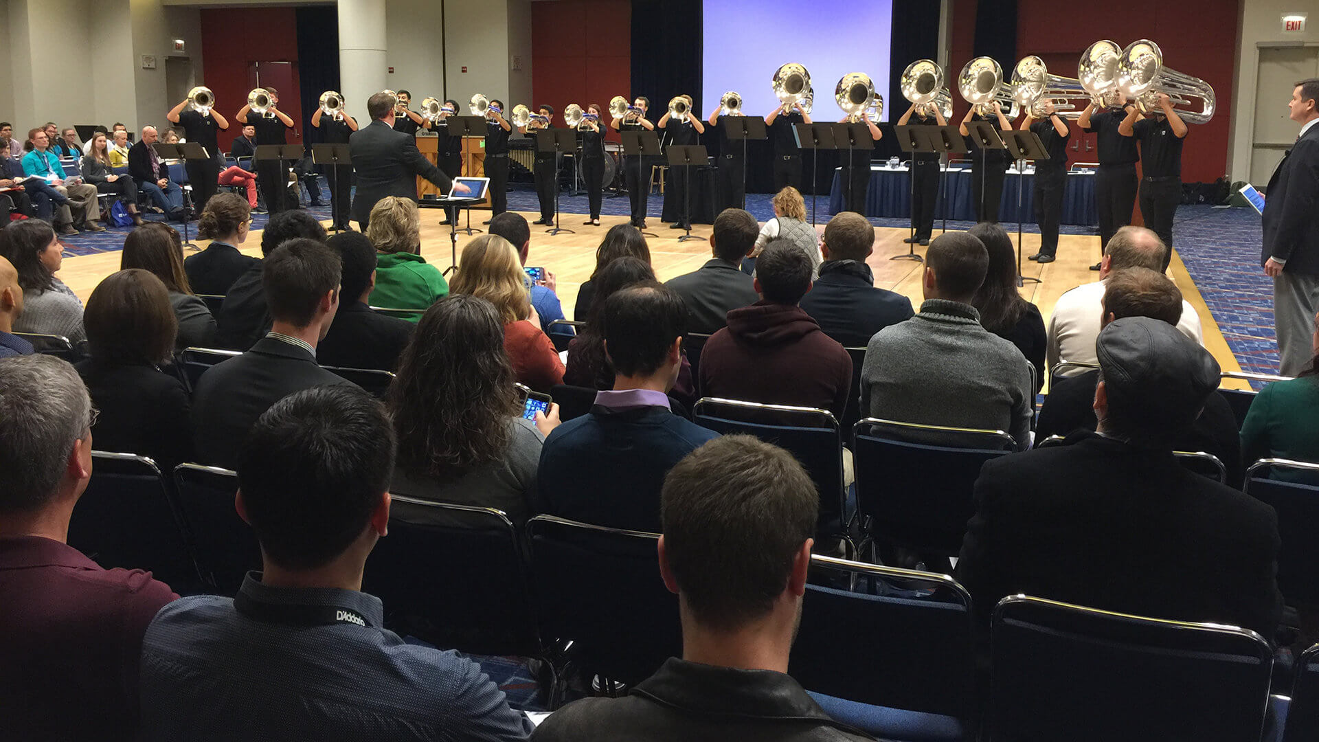 Regiment brass lays the 'bottom line' at international music conference