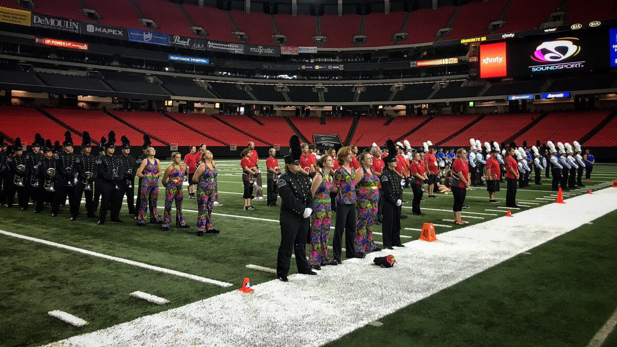 SoundSport teams fill Georgia Dome with big sights, sounds