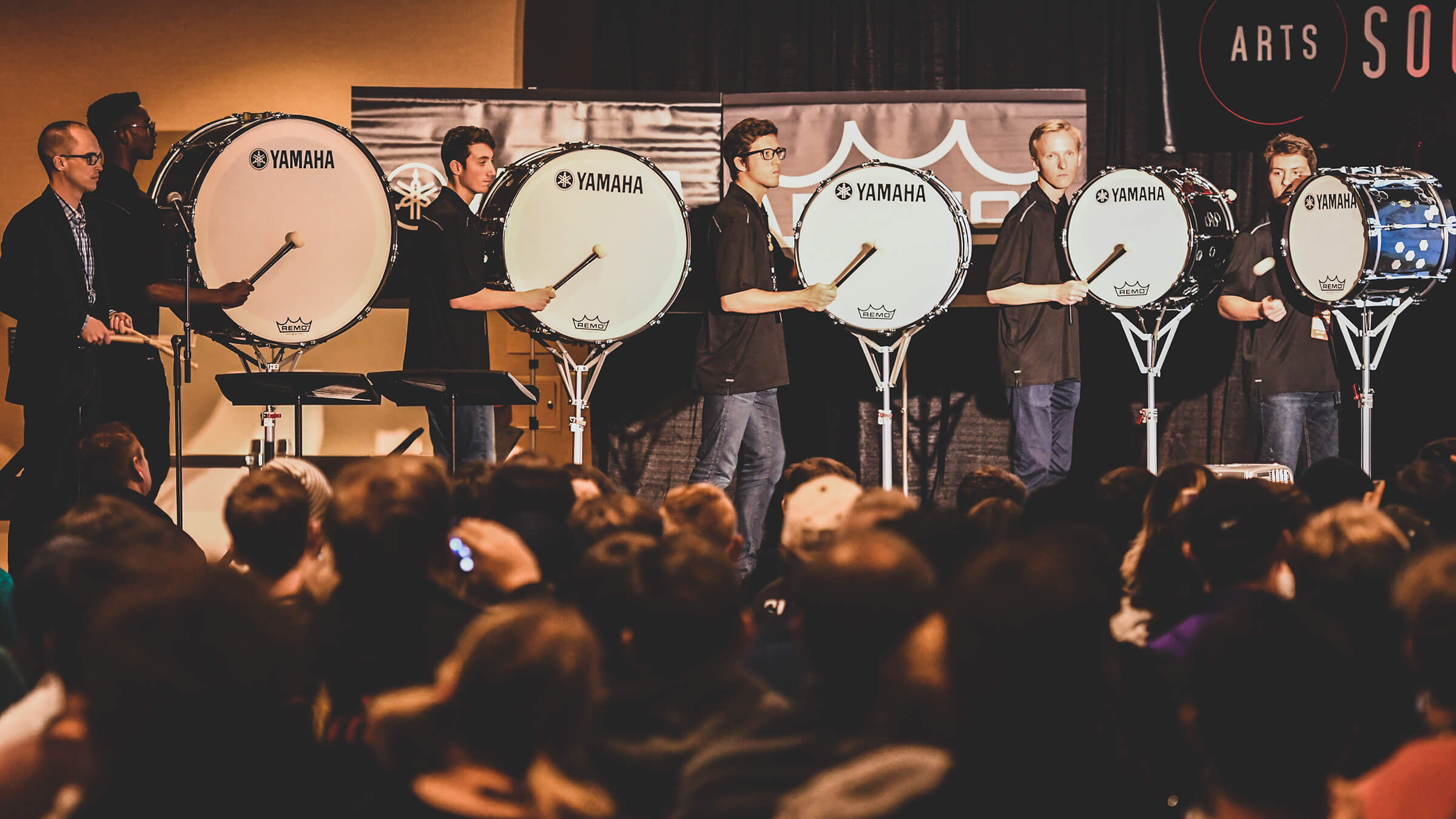 Cavaliers bass drummers entertain, educate at PASIC 2018