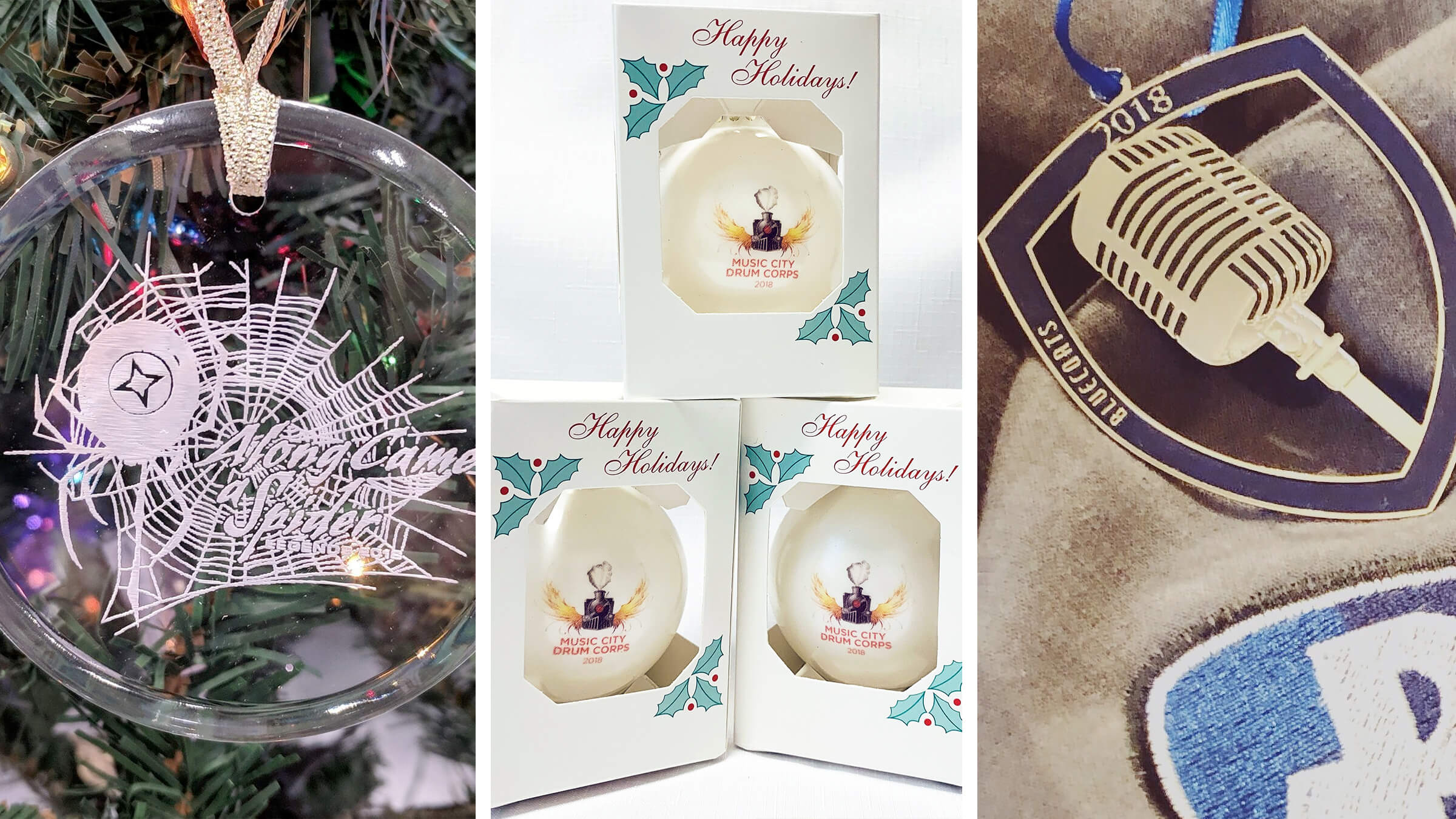 Trim your Christmas tree with drum corps accoutrements