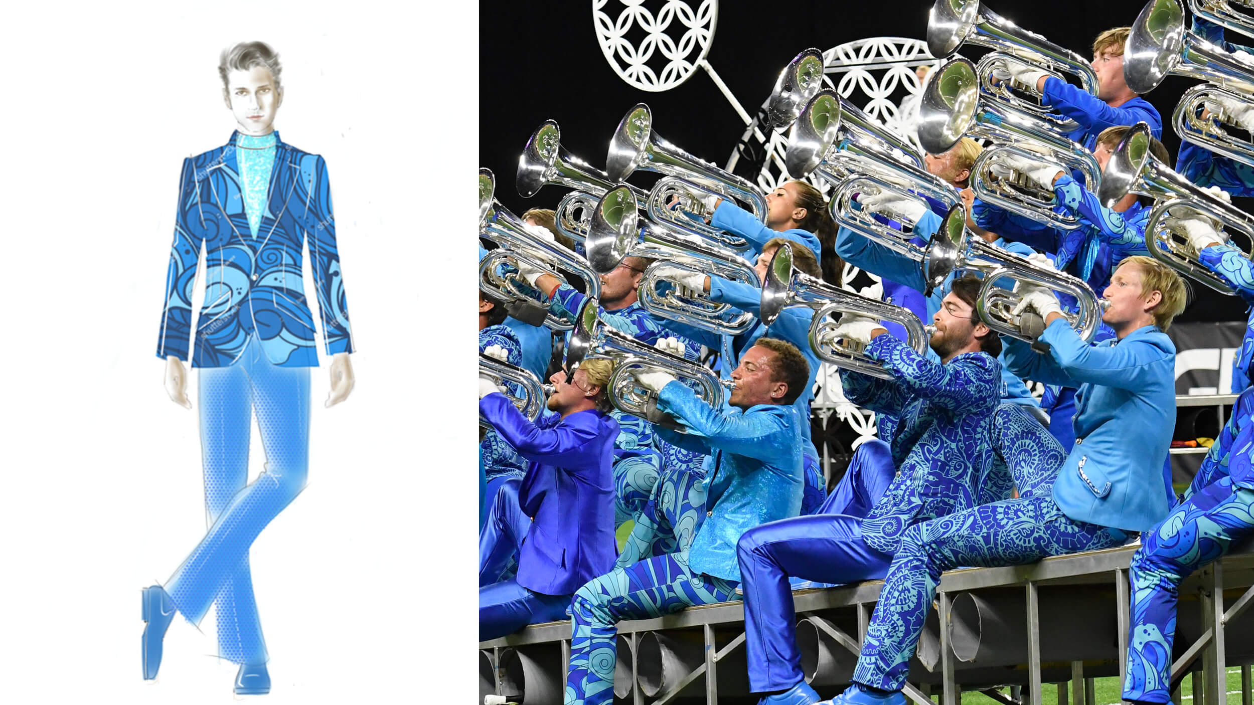 "Behind the look of ""The Bluecoats"""